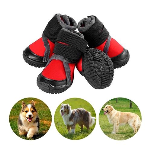 Adatte per cani di Media o Grande taglia #6 Suola Antiscivolo Resistenti Royalcare Scarpe per Cani Impermeabili Ideali per proteggere e tenere al caldo le zampe