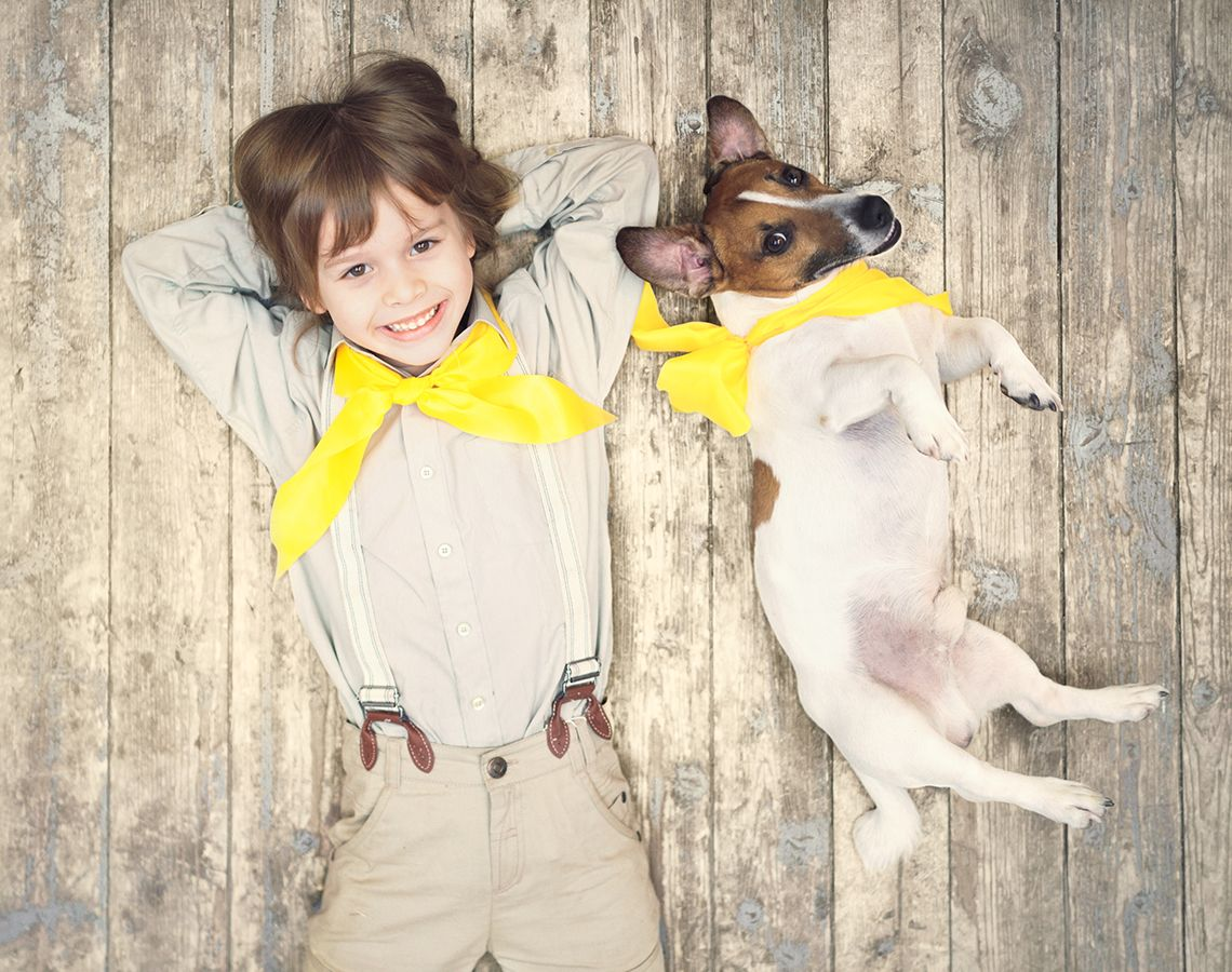 Carattere del Jack Russell con i bambini